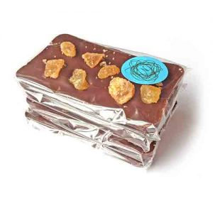 Crystallised ginger dark chocolate