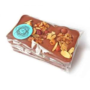 Milk chocolate with mixed nuts