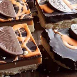 chocolate orange millionaires shortbread