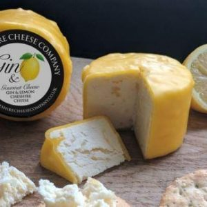 Cheshire cheese with lemon and gin
