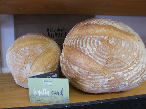 small and large sourdough